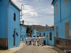 Синий город в Испании