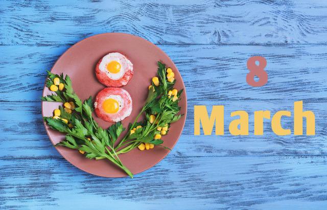 Вкусные открытки на 8 марта