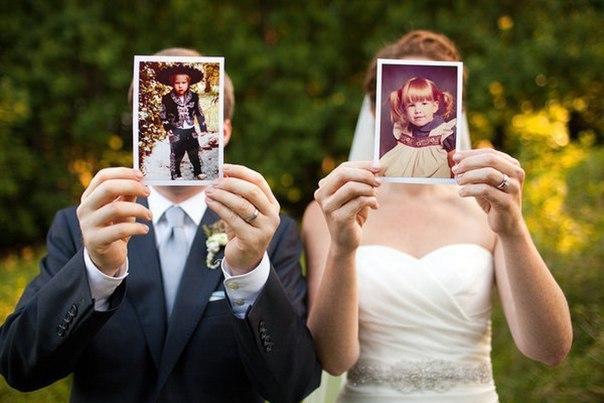 Забавные и милые идея для свадебного фото