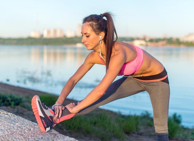 спорт летом, фитнес, девушка