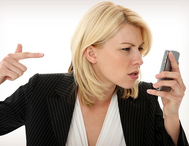 Женщина и ее мобильный