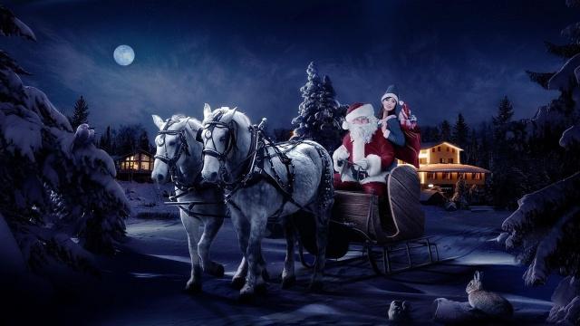 Красивые открытки к Новому году Лошади