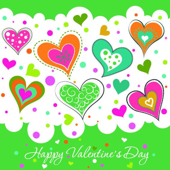 Яркая открытка ко Дню Св. Валентина 2015