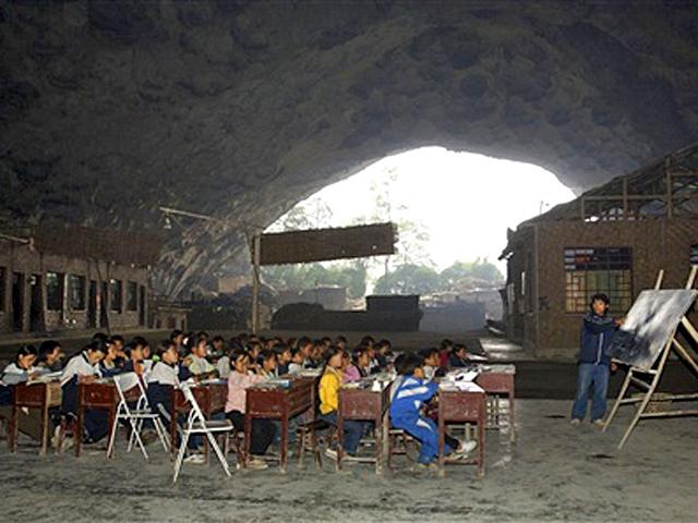 Самые необычные школы мира: Школа в пещере, Гуйчжоу, Китай