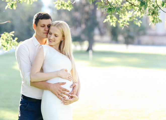 Беременная Аня Гресь и Роман Грищук