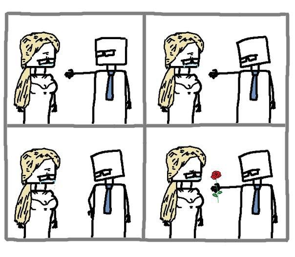 Комикс про 8 марта и цветы