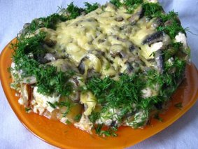 Запеканка из курицы с картофелем в мультиварке