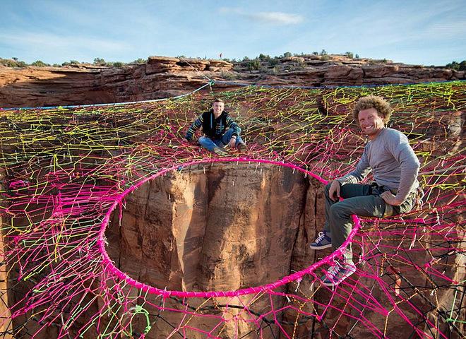 Марсіанські пейзажі Юти: павутина над прірвою