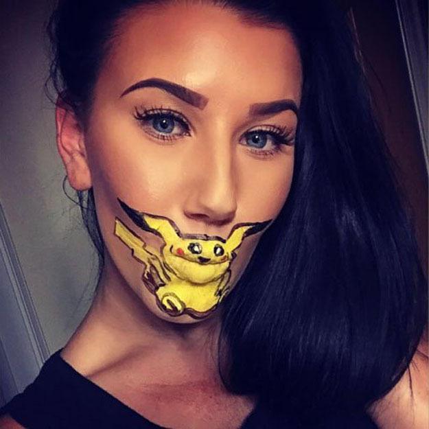 лицо с покемоном - новый тренд Инстаграма