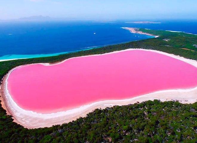 Найкрасивіші місця в світі: рожеве озеро Хіллер в Австралії