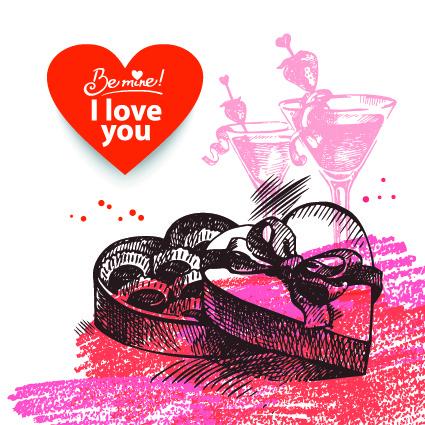 Красивая открытка на День Святого Валентина 2015