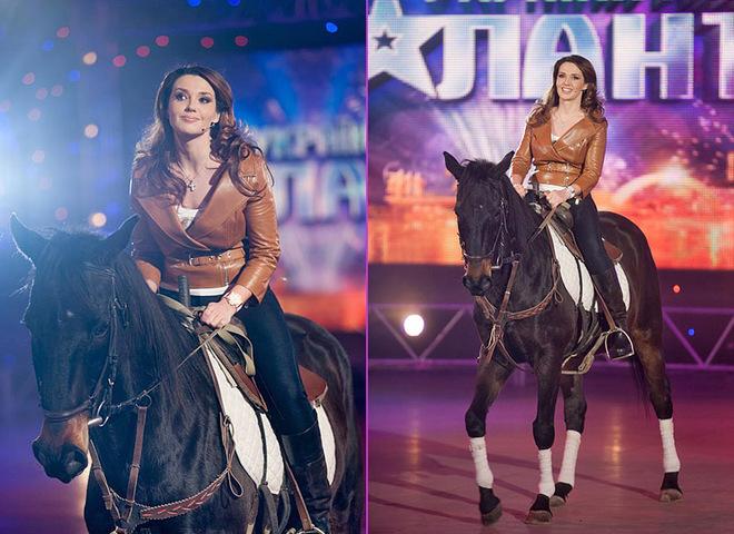 Оксана Марченко на зйомках каталася на коні