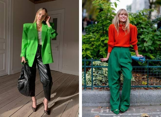 Зелений колір в одязі: що означає