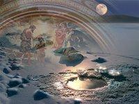 Листівка на Хрещення Господнє