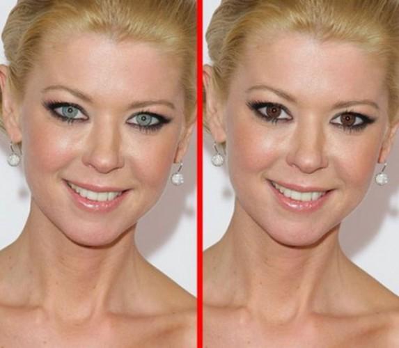 Если бы у знаменитостей был другой цвет глаз