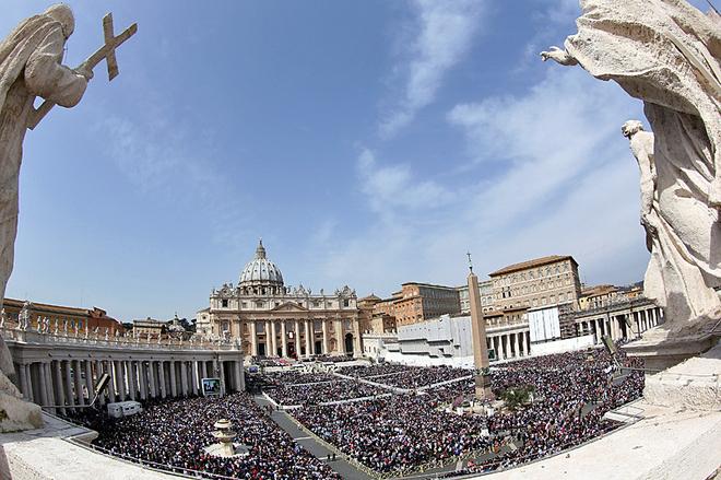 Площадь Святого Петра - Ватикан