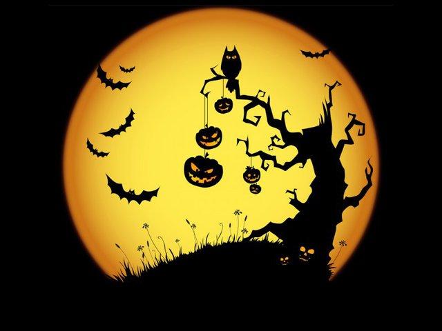 Жуткая открытка-поздравление с Хэллоуином