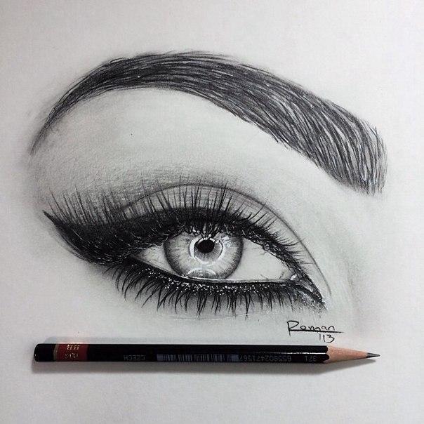 этой как правильно нарисовать ресницы карандашом должны