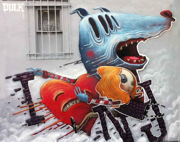 Сказочный стрит-арт в Испании от Dulk