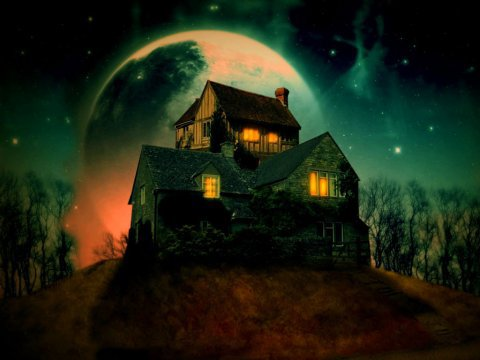 Красивая открытка на Хэллоуин