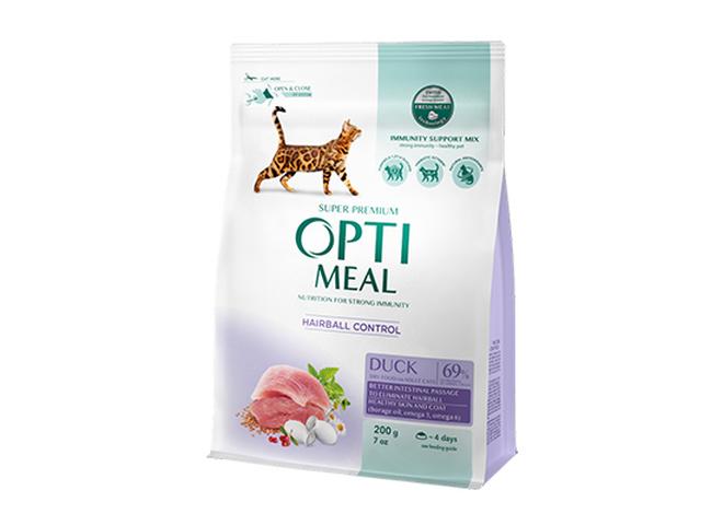 Сухий корм для кішок з ефектом виведення шерсті ТМ Optimeal
