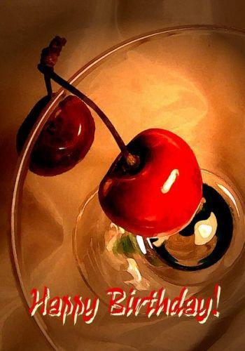 Вкусная открытка с Днем рождения