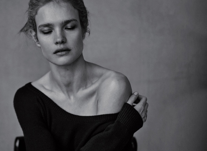 Наталья Водянова в черно-белой фотосессии для Dior Magazine
