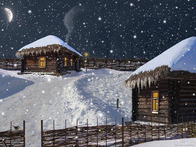 Снег на Старый Новый год! Ура!