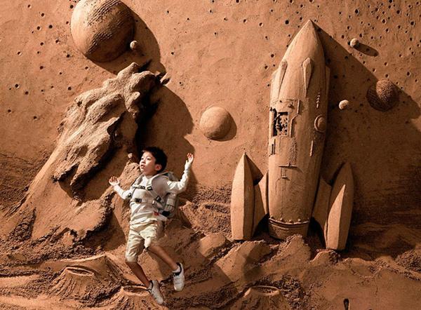 Потрясающие фигуры из песка
