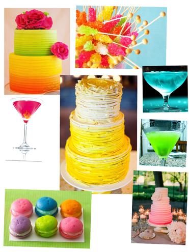 Стильные свадебные оттенки: neon