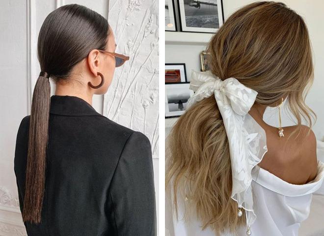 Модні варіанти зачіски хвіст