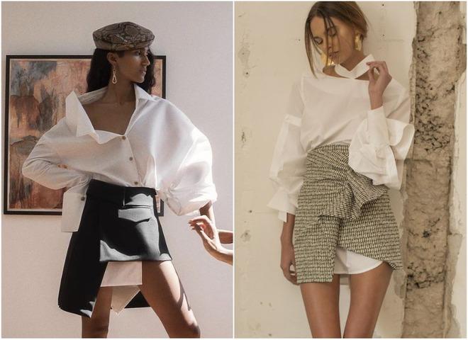 Как стильно носить белую рубашку: привычная классика в непривычном сочетании