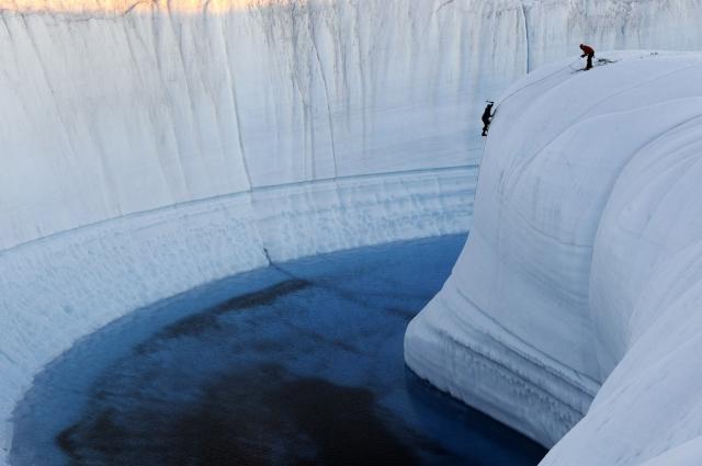 Крижаний каньйон Гренландія