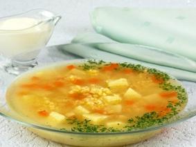 Суп овощной с пшеном
