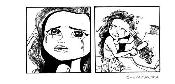 Комиксы про девушек с длинными волосами