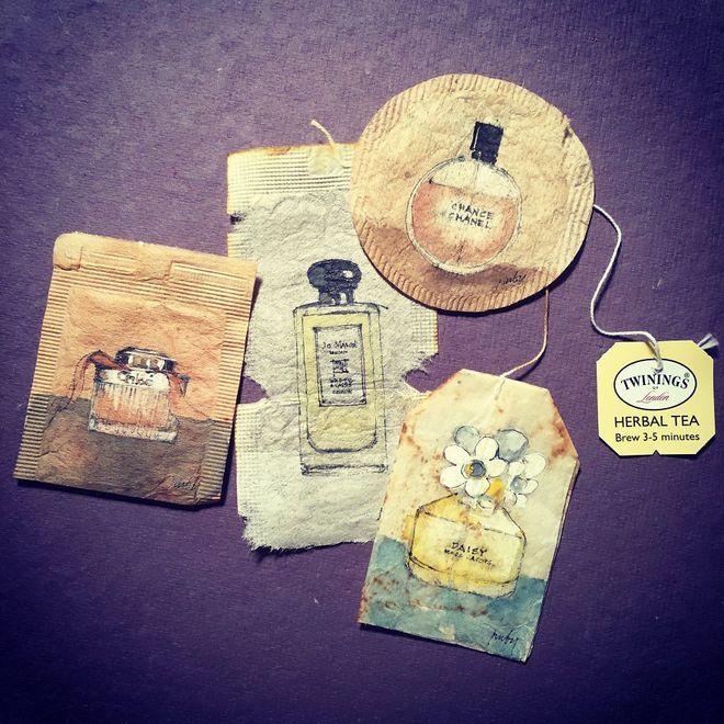 Маленькие шедевры на чайных пакетиках