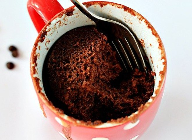 Как сделать кекс из какао в микроволновке