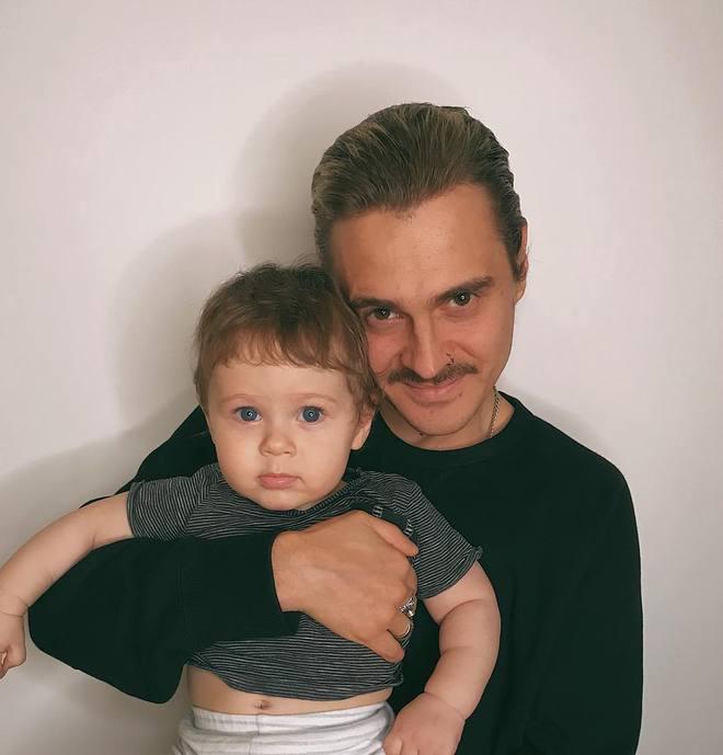 Ілля Прусікін з сином Добринею