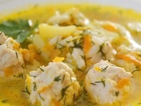 Куриные фрикадельки для супа