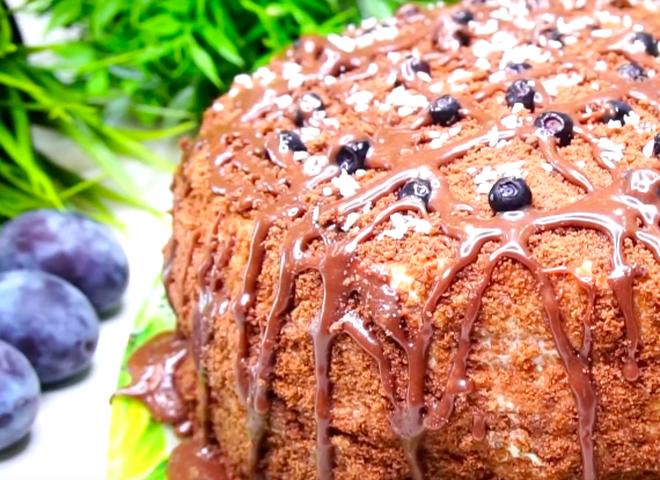 Торт «Принц» на кефире: подробный видеорецепт