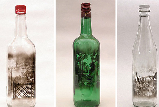 Пейзаж в бутылке Джима Дингильена