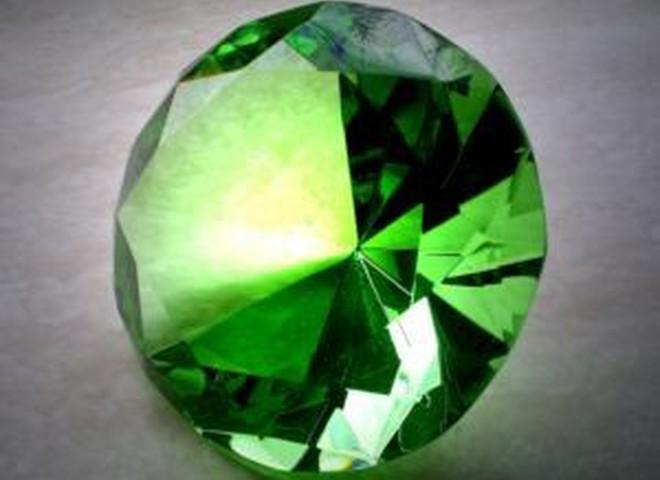 В Якутії знайшли унікальний зелений алмаз