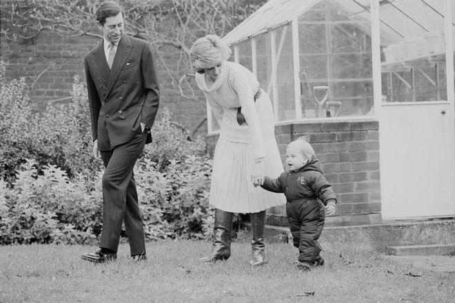 Принц Чарльз, принцеса Діана та принц Вільям