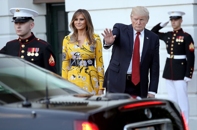 Меланія Трамп в жовтій сукні від Emilio Pucci