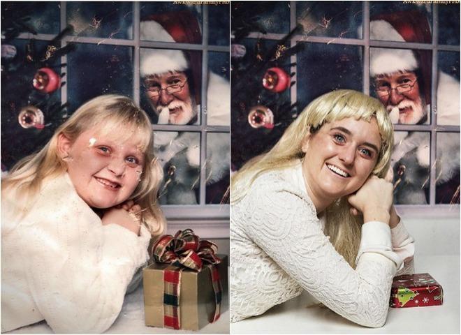 Воспроизведение детских фото с Сантой