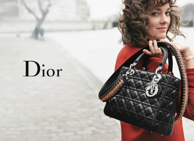 Маріон Котійяр в рекламі Dior