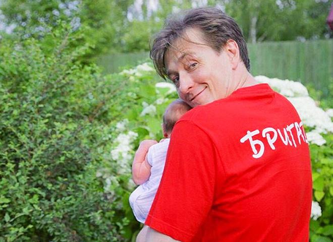 Сергій Безруков з донькою