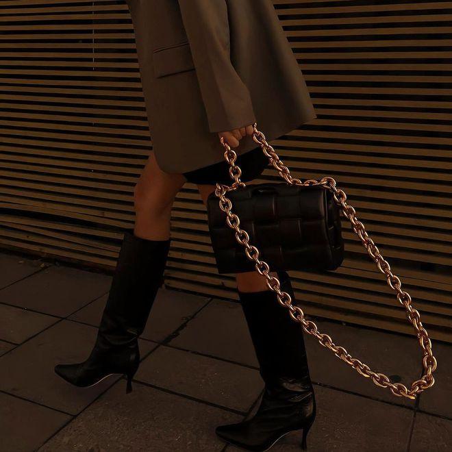 Плетеная кожаная сумка — тренд весна-лето