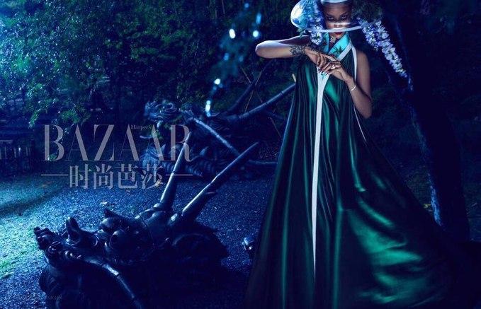 Ріанна в новому на обкладинці Harper's Bazaar Китай