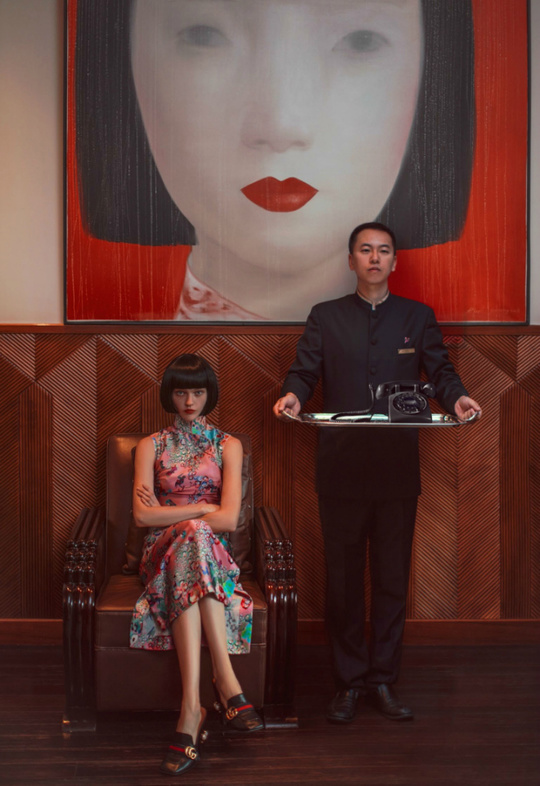 Аня Рубик и Саша Пивоварова для Vogue China